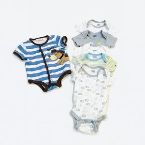 Bundle Of 6 Baby Boy Onesies. Size 0-3 Months